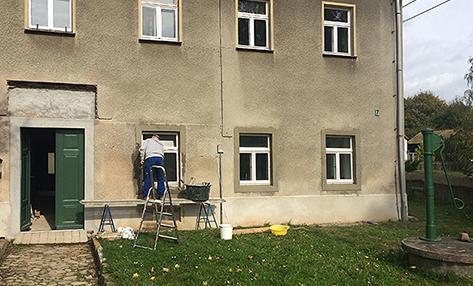 Breitere Fensterfaschen